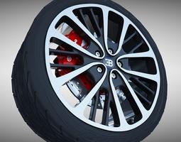 3D model Bugatti Veyron Wheel