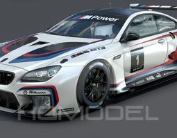 BMW M6 GT3 PBR 3D Model