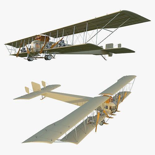 WWI Bomber Aircraft Sikorsky Ilya Muromets