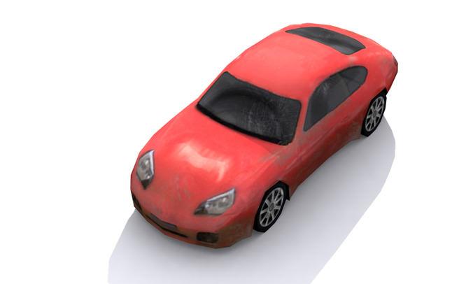 Lowpoly car3D model