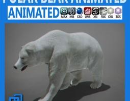 Animated Polar Bear 3D Model
