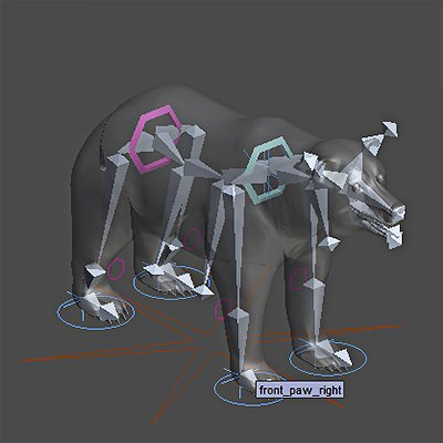 Animated Polar Bear 3D Model .max .obj .3ds .fbx .lwo .lw .lws .c4d
