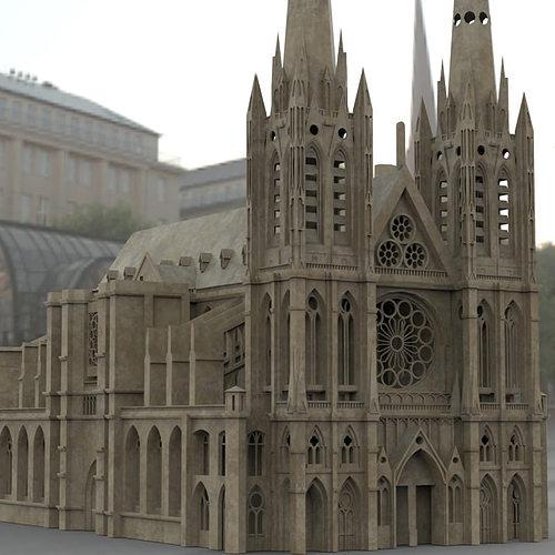 clermont cathedral 3d model max obj mtl fbx stl pdf 1