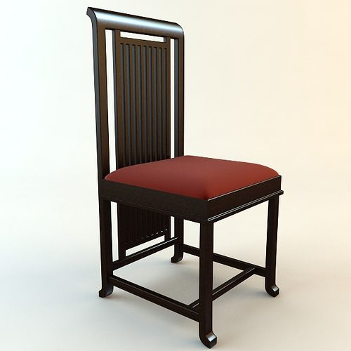 ... Frank Lloyd Wright Coonley Large Chair 3d Model Max Obj 3ds Mtl 2 ...