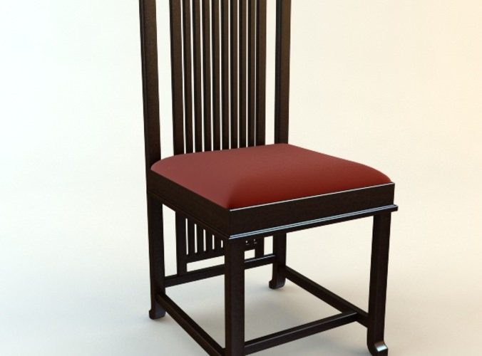 Frank Lloyd Wright Coonley Large Chair3D model