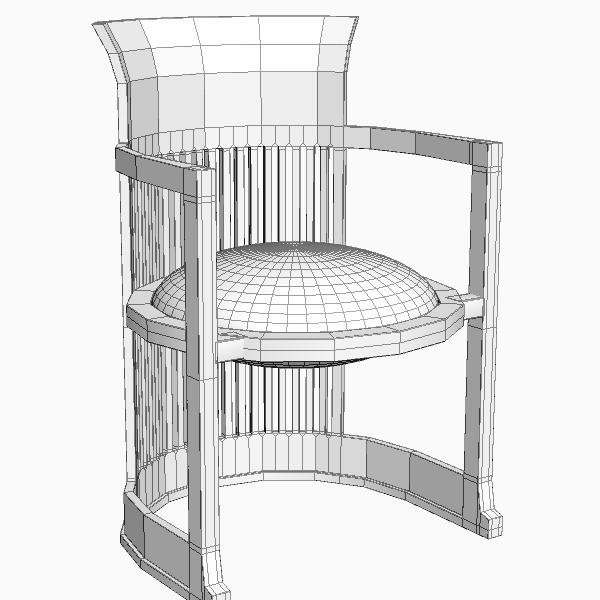Frank Lloyd Wright Barrel Chair Model Max Obj Mtl S Fbx Unitypackage Prefab 5