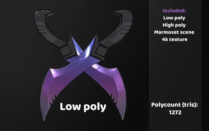 Low poly blades