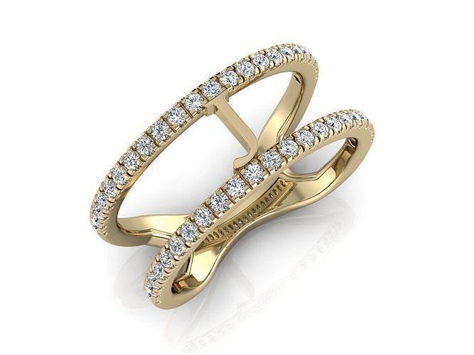 Jewelry Alphabet Ring J
