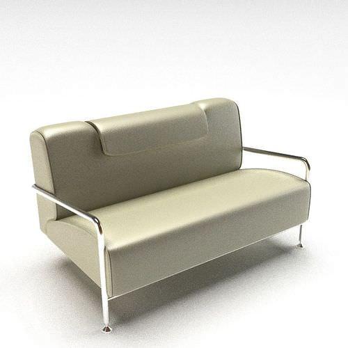 Silver Grey Sofa 3D Model