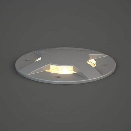 circular grey lamp 3d model obj 1