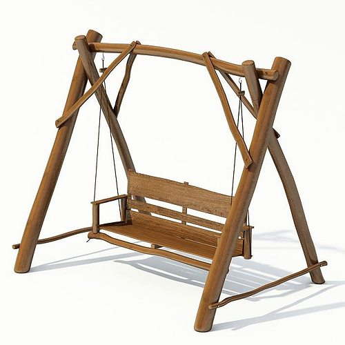 outdoor garden swing 3d model. Black Bedroom Furniture Sets. Home Design Ideas