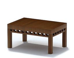 3D Retro Wooden Coffee Table