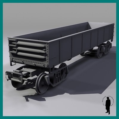 42' STEEL WAGON 3D Model .max