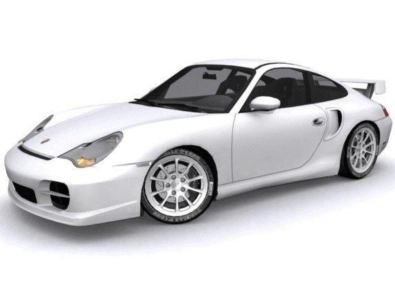 porsche 911 gt2 3d model game ready max. Black Bedroom Furniture Sets. Home Design Ideas