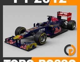 F1 2012 Toro Rosso STR7 - Scuderia Toro Rosso 3D Model