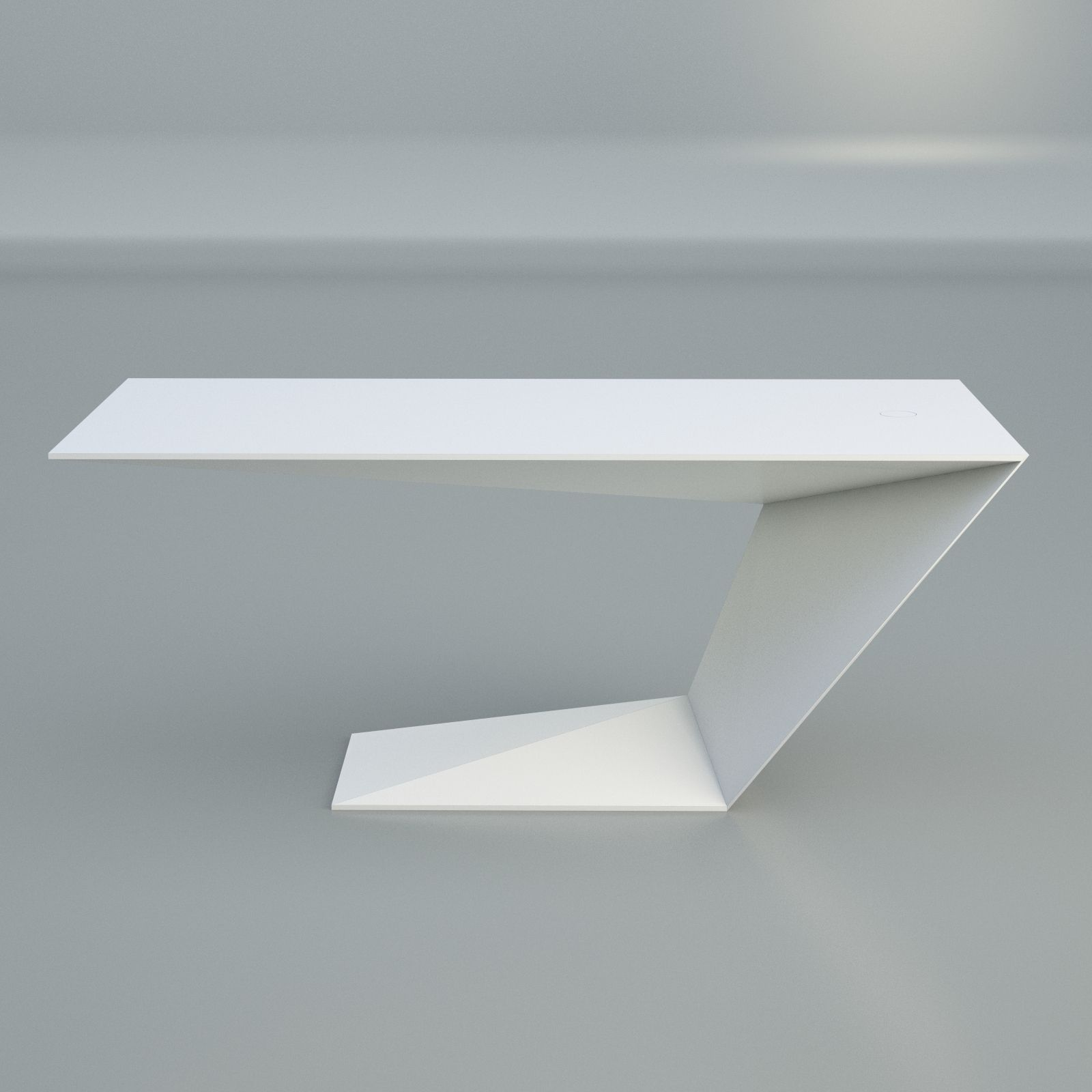 Furtif desk modern table roche bobois free vr ar low poly 3d model max ob - Roche bobois tables basses ...