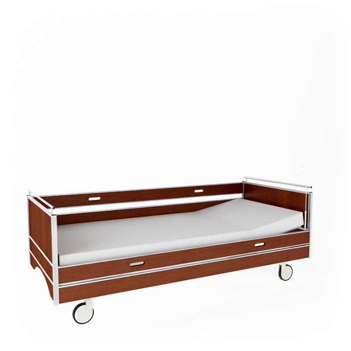Portable Twin Hospital Bed On Wheels Model Obj Mtl 1