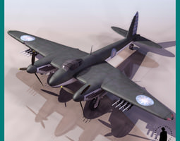 MOSQUITO CHINESE VERSION AIRCRAFT 3D Model