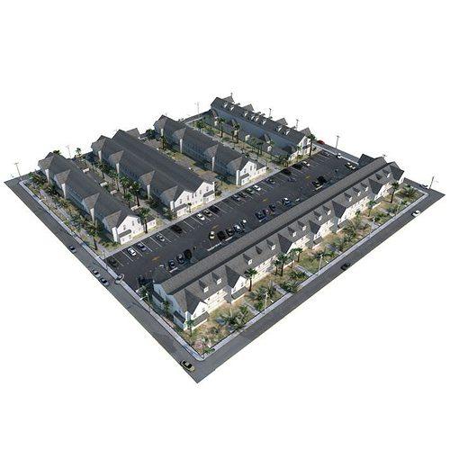multi unit housisng 3d model obj 1