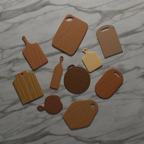 Ten Different Wooden Cutting Boards