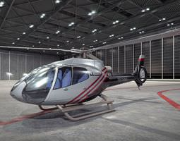 3D model Modern Gray Helicopter