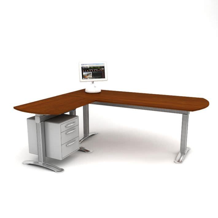 Sectional Office Desk 3d Model Cgtrader Com