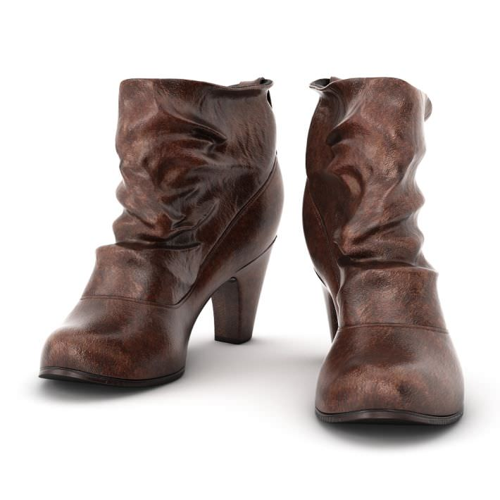 Brown women s boots 3d model for New model boot