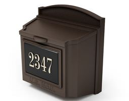 Letterbox With Address Plate 3D model