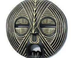 3D Black African Mask