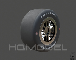 Indy Car Tire Rim Firestone PBR 3D asset