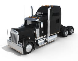 Black Metal Truck 3D Model