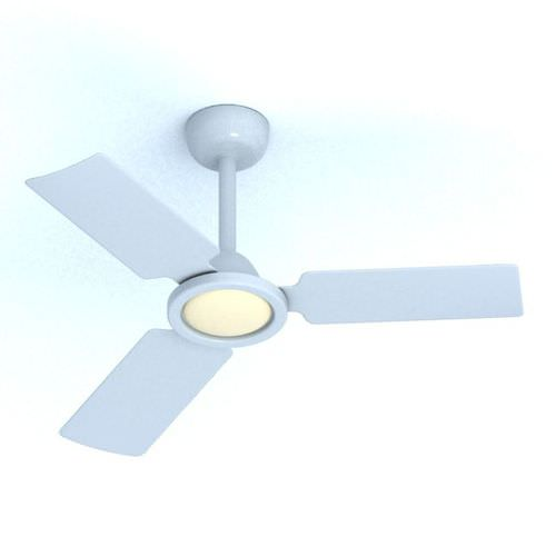 Modern White Ceiling Fan 3d Model: modern white ceiling fan