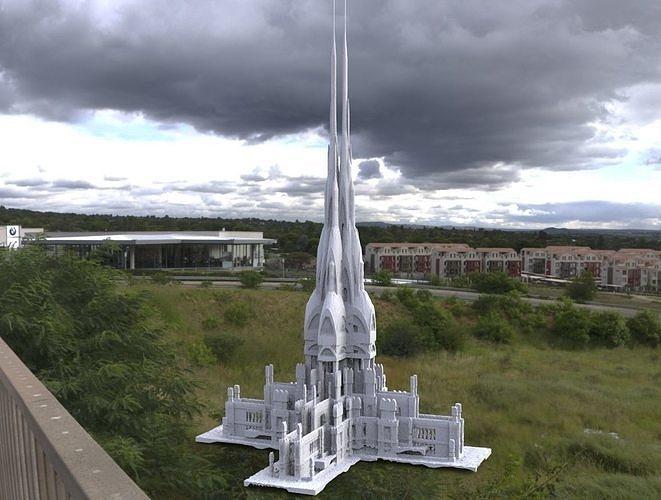 Victorian architecture Ornate grave 6 3D model