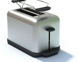 3D model Appliance Silver Toaster