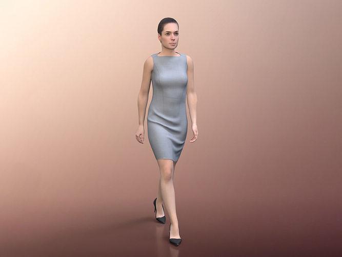 Juliette 20021-02 - Animated Elegant Woman Walking