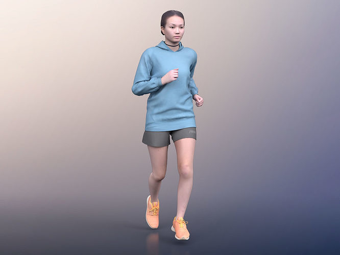 Laura 20012-03 - Animated Athletic Woman Jogging