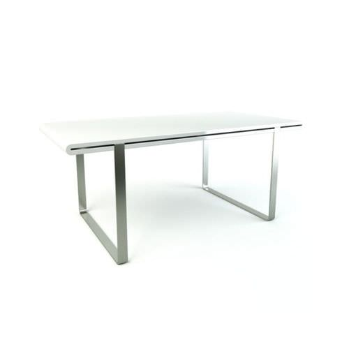 Sleek Drafting Table  Silver And White3D model