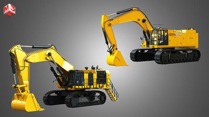 Hydraulic Mining Excavators 2 in 1
