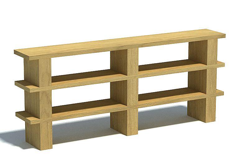 Wood Storage Shelves : Wooden Storage Shelves 3D Model - CGTrader.com