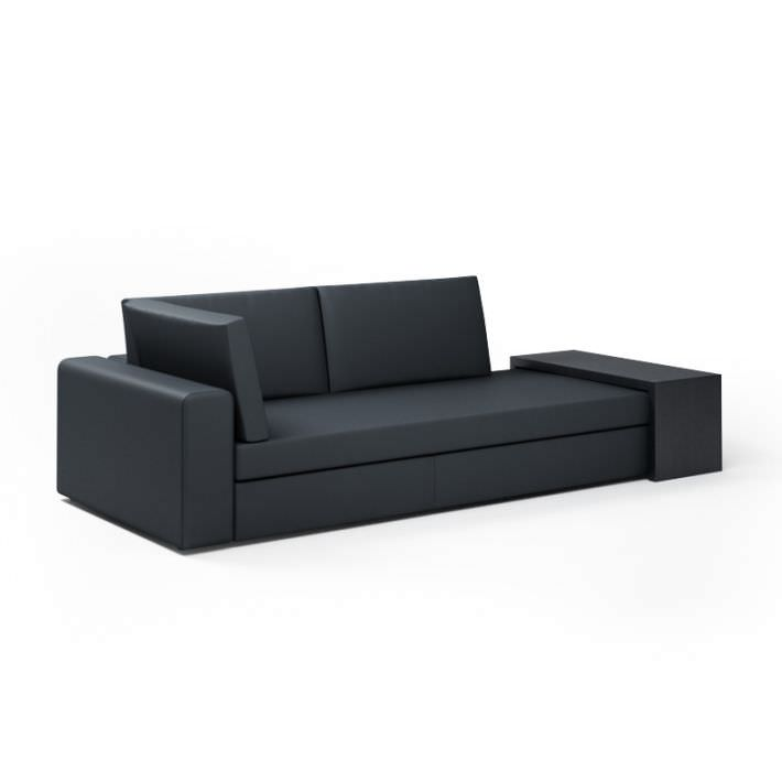 3D Black Modern Sectional Loveseat Couch | CGTrader