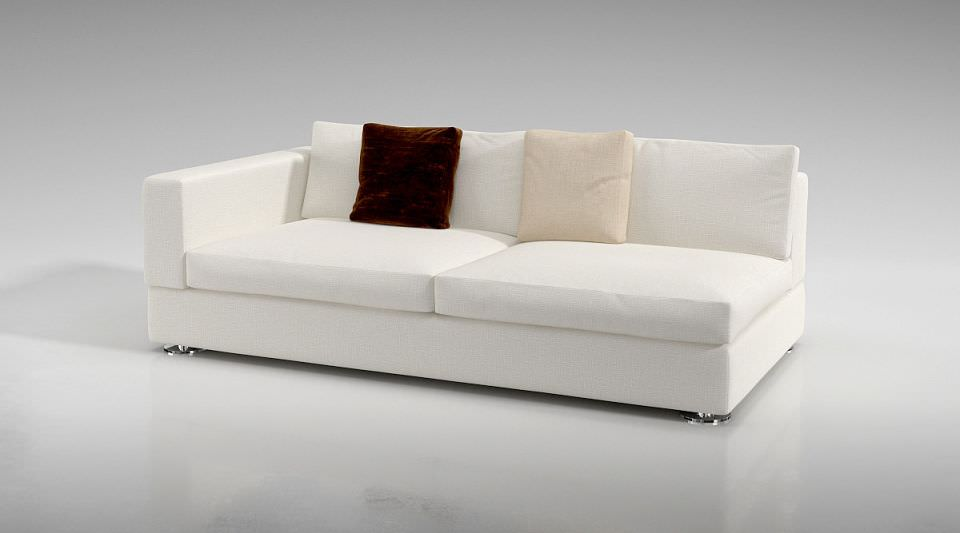 3d Model One Armed White Couch Cgtrader