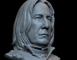 3d printable sculpture Severus Snape STL OBJ 3D Model