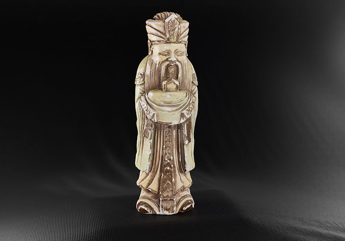 Decoration - Chinese Statue 01 -
