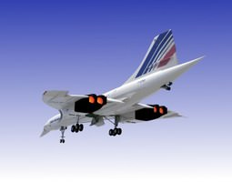 Concorde 3D Model