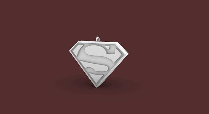 Superman Earring-Pendant