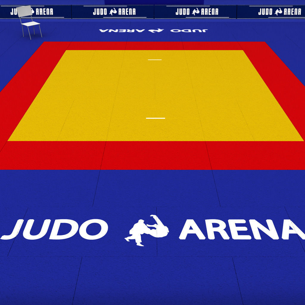 3d Model Judo Tatami Sport Arena Low Poly Vr Ar Low