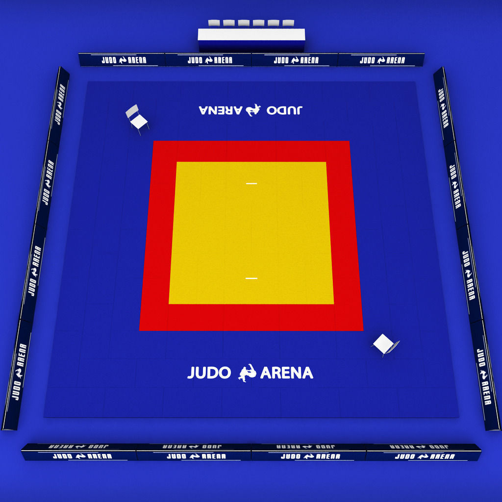 3d Model Japan Judo Tatami Sport Arena Low Poly