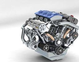 khelifaoui k-motor v6 bi-turbo  3d model