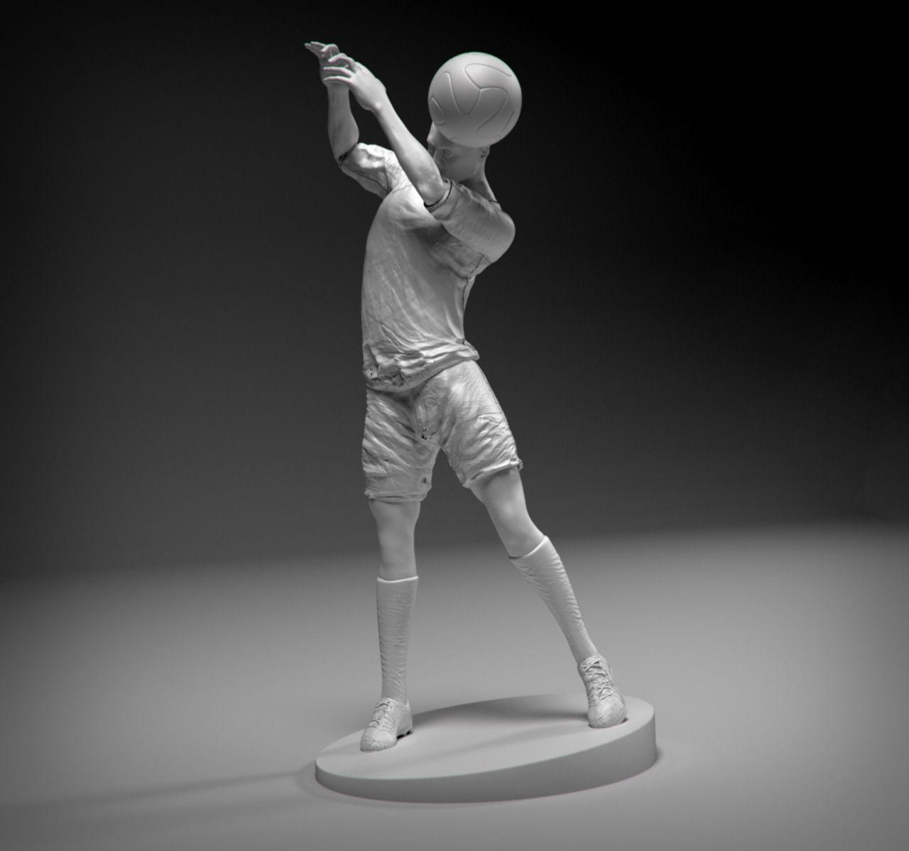 Footballer Headstrike Stl 3D Model 3D Printable STL