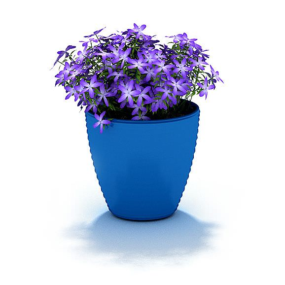 Beautiful potted flowers 3d model - Potted gardentricks beautiful flowers ...